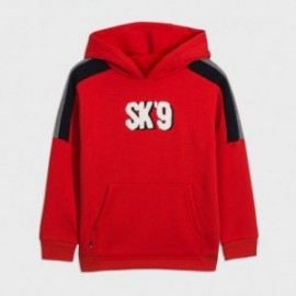 Bluza typu kangurka dla chłopców Mayoral 7458-72 czerwona