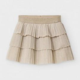 Spódnica plisowana dla dziewczynki Mayoral 2940-10 beż