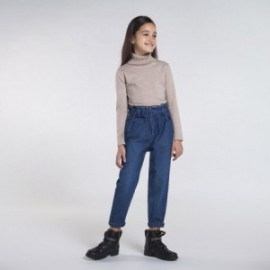Spodnie slouchy jeans dla dziewczynki Mayoral 7538-5 granat