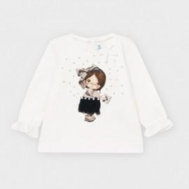 Koszulka z długim rękawem dziewczęca Mayoral 2054-51 Biały/granat