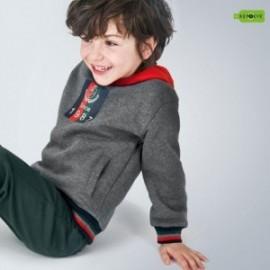 Bluza z kapturem chłopięca Mayoral 4463-31 Szary