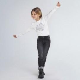 Spodnie jeansowe dziewczęce Mayoral 80-81 Czarny