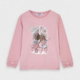 Koszulka z długim rękawem dziewczęca Mayoral 4067-82 Różowy