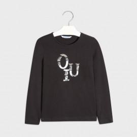 Koszulka z długim rękawem dziewczęca Mayoral 830-66 Czarny