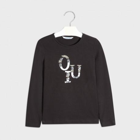 Koszulka d/r basic dziewczynka Mayoral 830-66 Czarny