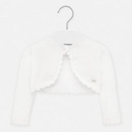 Sweter dzianinowy dla dziewczynek Mayoral 306-85 Biały