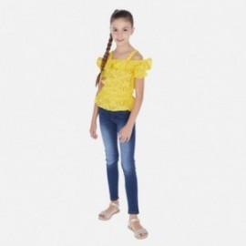 Spodnie jeans dziewczęce Mayoral 554-84 Granatowy