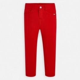 Spodnie dzianinowe dziewczęce Mayoral 555-76 Czerwony