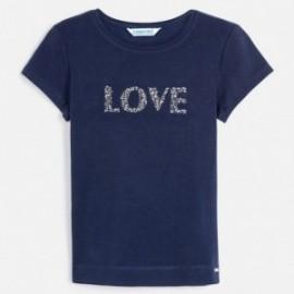 Koszulka z krótkim rękawem dziewczęca Mayoral 854-96 Granatowy