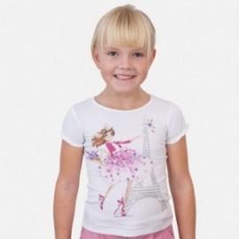 Koszulka z krótkim rękawem dziewczęca Mayoral 3008-47 Biały
