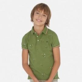 Koszulka polo z nadrukiem chłopięca Mayoral 6138-41 Zielony