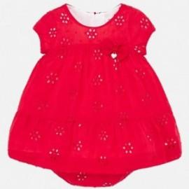Sukienka plumeti dziewczęca Mayoral 1884-69 Czerwony
