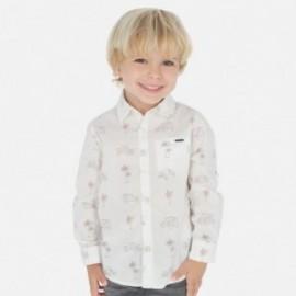 Koszula we wzory chłopięca Mayoral 3175-9 biała