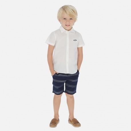 Komplet koszula i bermudy chłopięcy Mayoral 3269-66 biały