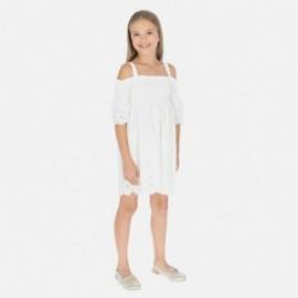 Sukienka na ramiączkach dziewczęca Mayoral 6980-93 Kremowy