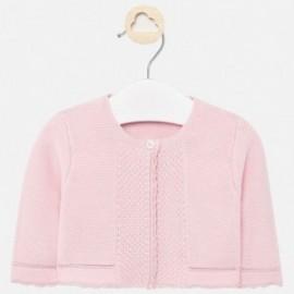 Sweter dzianinowy dla dziewczynki Mayoral 325-15 Różowy