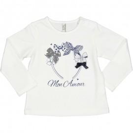 Koszulka bawełniana dziewczęca Birba 94042-10E biała