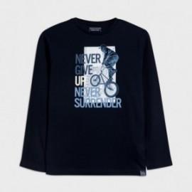 Koszulka z długim rękawem chłopięca Mayoral 7057-17 Granatowy