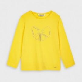 Koszulka z długim rękawem dziewczęca Mayoral 178-81 żółta