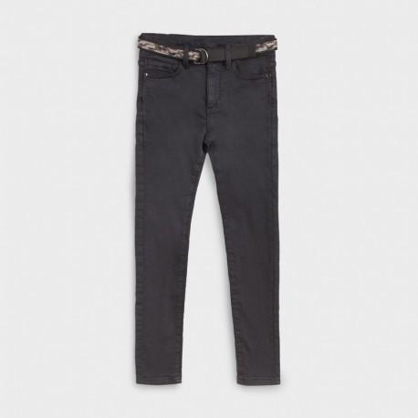 Spodnie z paskiem chłopięce Mayoral 7524-37 Czarny