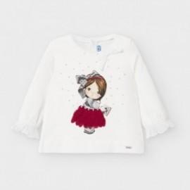 Koszulka z długim rękawem dziewczęca Mayoral 2054-48 Biały/czerwony