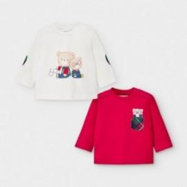 Komplet 2 koszulek dla chłopców Mayoral 2034-81 biała/Czerwona