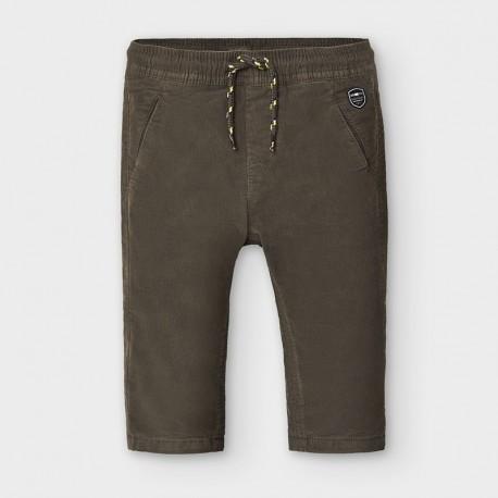 Spodnie sztruksowe na podszewce chłopięce Mayoral 2576-20 brązowe