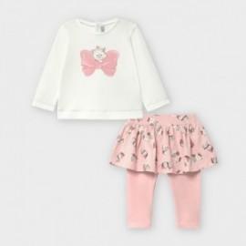 Komplet leginsy/spódnica z bluzką dziewczęcy Mayoral 2793-27 Różowy