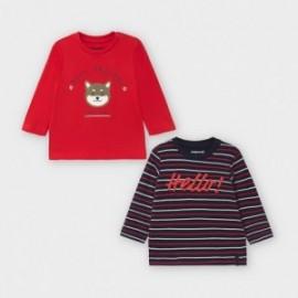 Komplet 2 koszulki dla chłopców Mayoral 2048-31 Czerwony