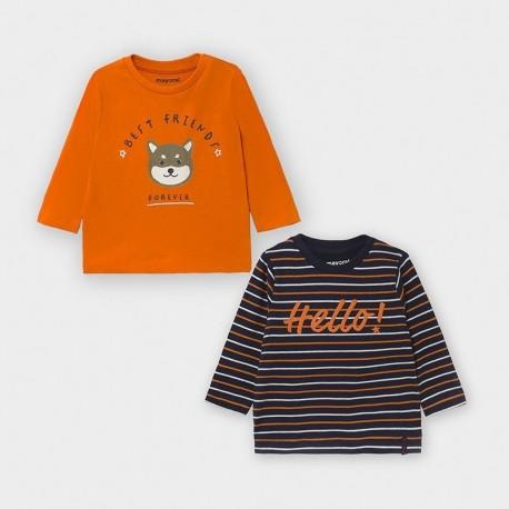 Komplet 2 koszulki dla chłopców Mayoral 2048-32 Pomarańczowy