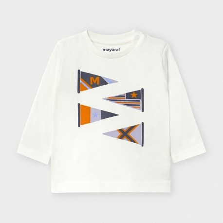 Koszulka z długim rękawem chłopięca Mayoral 2039-38 Śmietanka