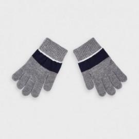 Rękawiczki trójkolorowe chłopięce Mayoral 10884-34 Szary