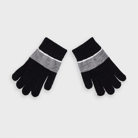 Rękawiczki trójkolorowe chłopięce Mayoral 10884-35 Czarny