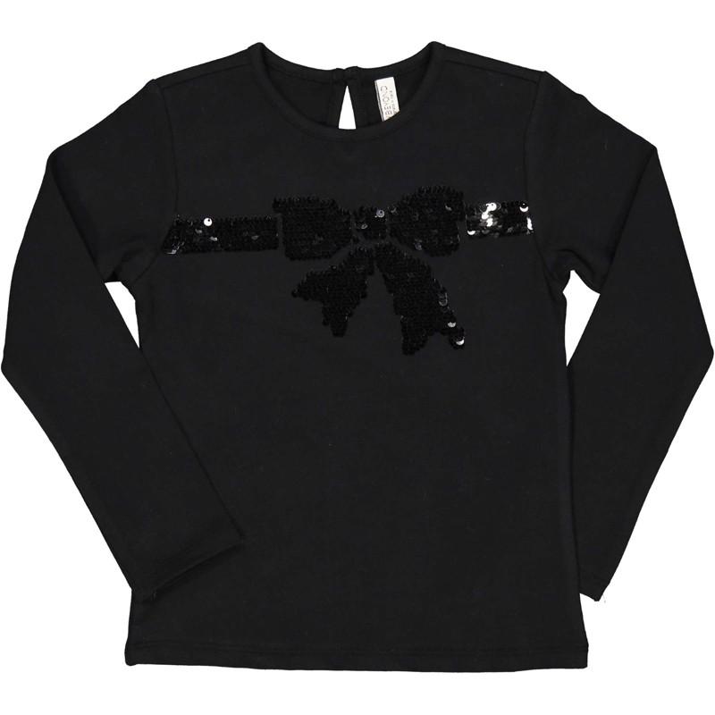 Koszulka z długim rękawem dziewczęca Trybeyond 94420-10A czarna