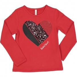 Koszulka z długim rękawem dziewczęca Trybeyond 94437-56W czerwona