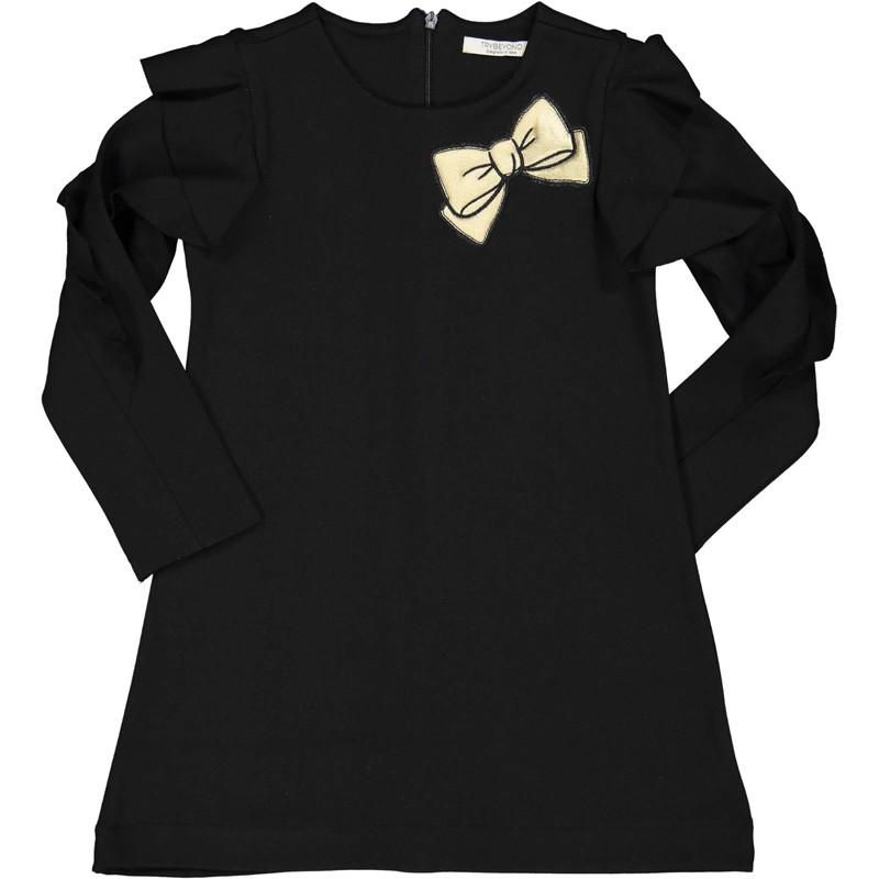 Bawełniana sukienka dla dziewczynki Trybeyond 95581-10A czarna