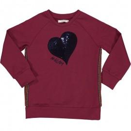 Bluza bawełniana dziewczęca Trybeyond 96944-56U fuksja