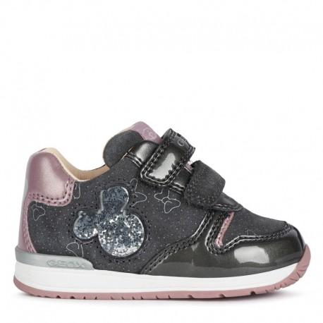 Sneakersy dziewczęce Geox B040LC-022HI-C9002 szare