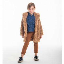Kurtka z bukli zimowa dla dziewczynki Trybeyond 97998-10F beż