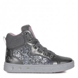 Sneakersy dziewczęce Geox J048WA-0EWNF-C9275 szare