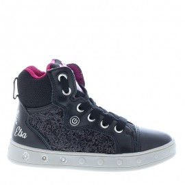 Sneakersy dziewczęce Geox J048WA-0EWNF-C0922 czarny