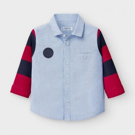 Koszula łączona chłopięca Mayoral 2131-3 Niebieski
