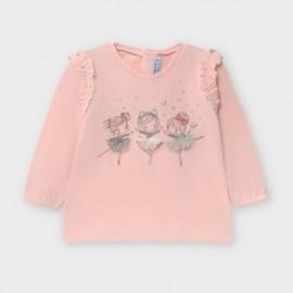 Koszulka z długim rękawem dziewczęca Mayoral 2056-23 Różowy