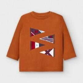 Koszulka z długim rękawem chłopięca Mayoral 2039-35 Brązowy
