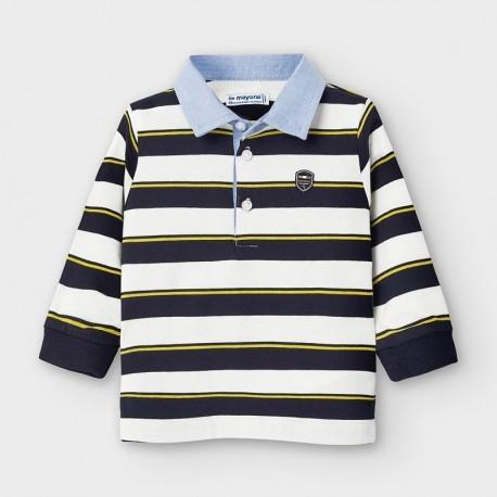 Koszulka polo w paski chłopięca Mayoral 2123-43 Granatowy