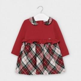 Sukienka w kratkę dziewczęca Mayoral 2960-95 Czerwony
