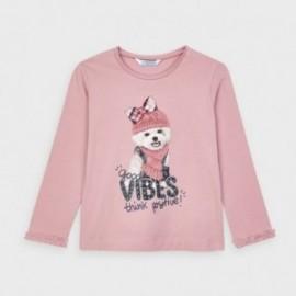 Koszulka z długim rękawem dziewczęca Mayoral 4064-80 Różowy