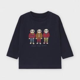 Koszulka z długim rękawem chłopięca Mayoral 2043-93 Granatowy