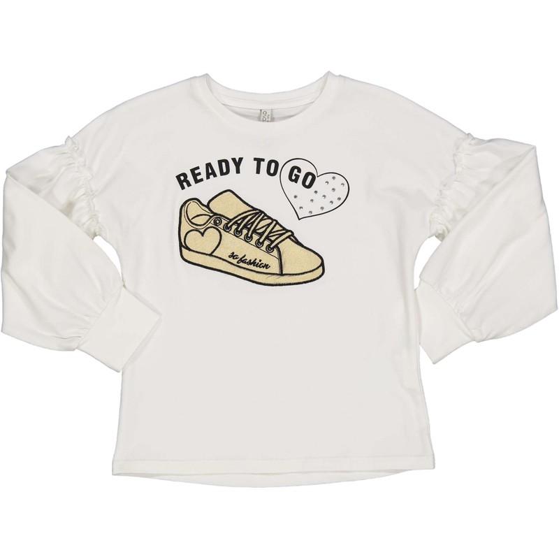 Koszulka dziewczęca Trybeyond 94436-10E krem