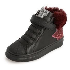 Trzewiki dziewczęce na zimę Garvalin 201635 czarne